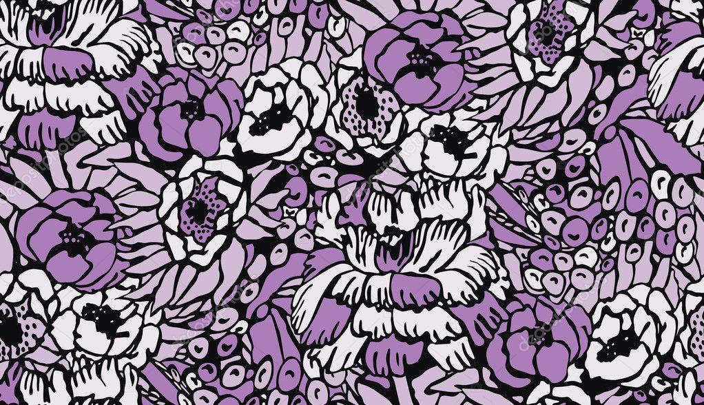 Papier Peint Vintage Fleur Image Vectorielle Damidnight C 10252604