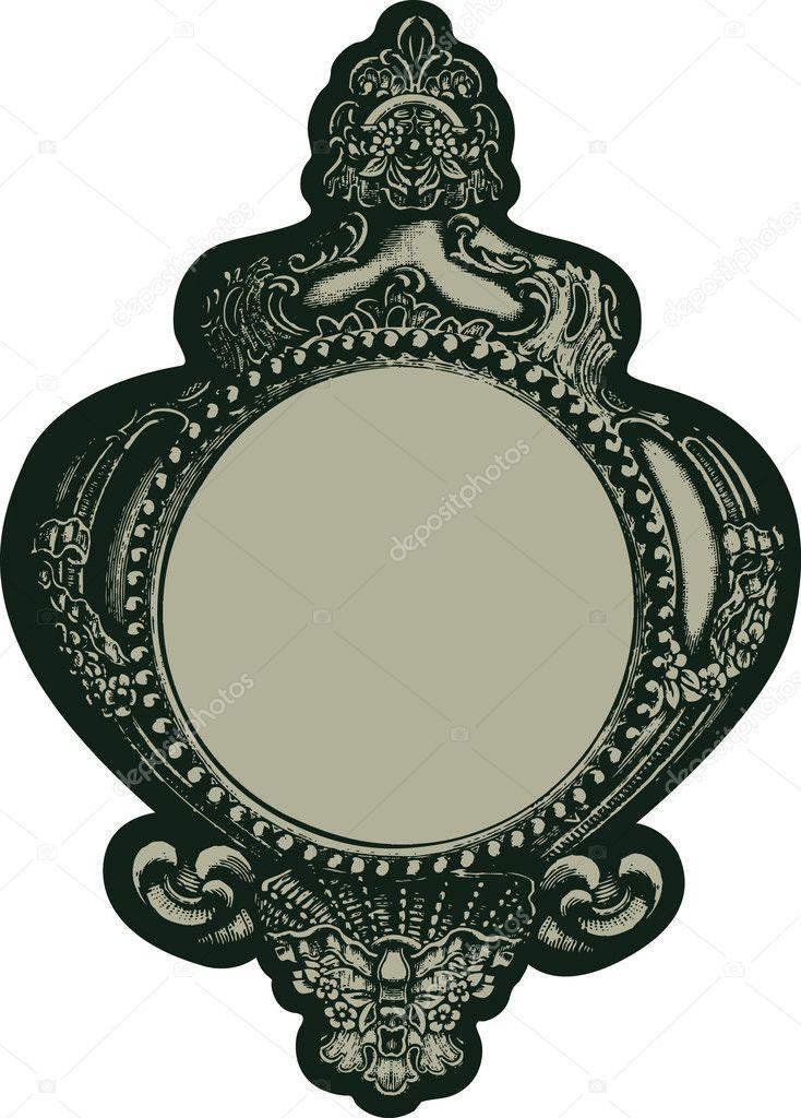 Klassische Spiegel klassische spiegel stockvektor damidnight 10252694