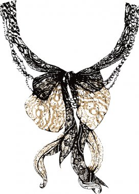 Decorative lace bow