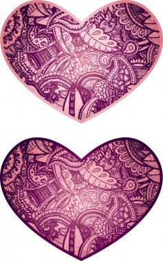 Heart shape object with paisley flower