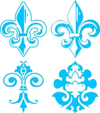 Fleur de lis design clip art vector