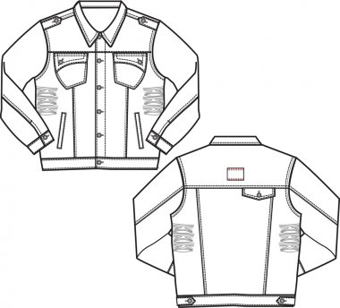 Boy denim jackets stock vector
