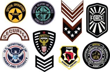 Classic emblem badge shield