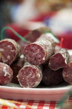 French sausage at market