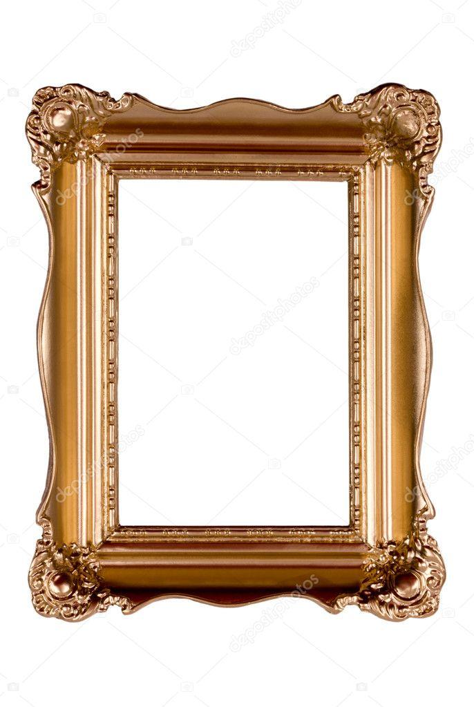 marco oro antiguo aislado en blanco — Fotos de Stock © Can-7761 ...