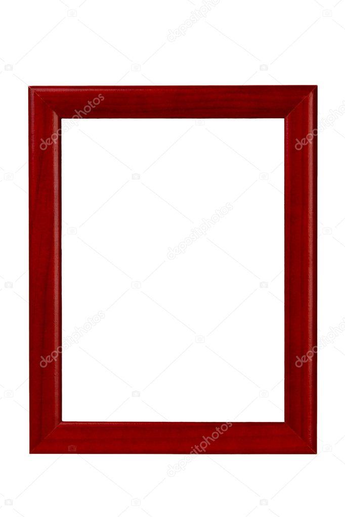 Rote Bilderrahmen isoliert auf weiss — Stockfoto © Can-7761 #10354242