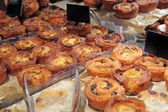 Apple muffins in a bakery