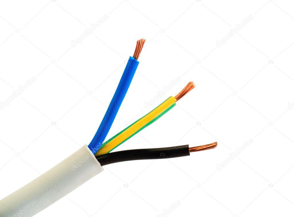 Stromführendes Kabel Farbe