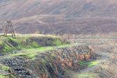 opuštěný Lom na extrakci měděné rudy v norilsk Rusko