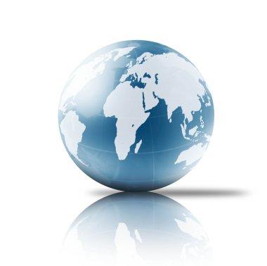Globe on a white background