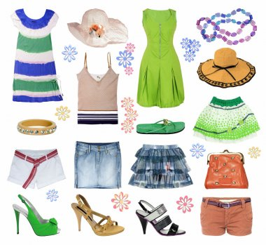 Collection of summer clothes