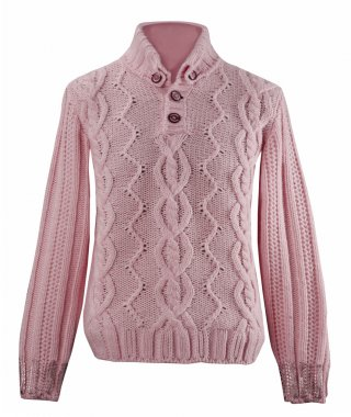 Pink woolen sweater