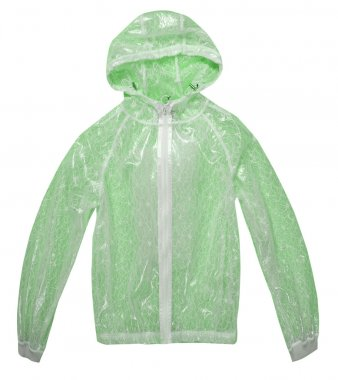 Raincoat isolated over the white background