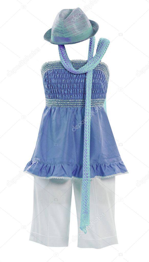 Blaues kleid baby