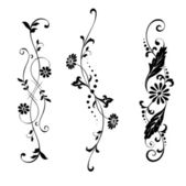 Set elements for design flowers and