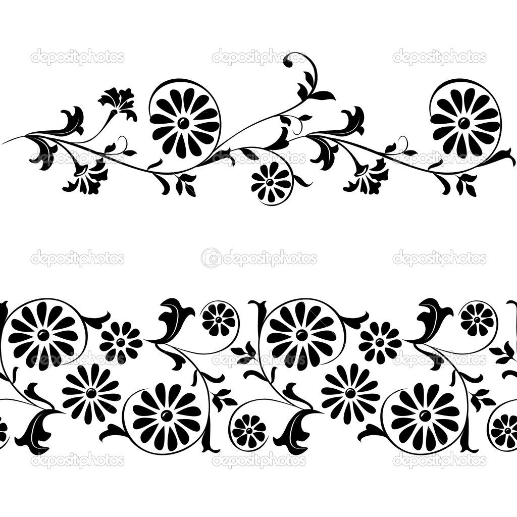 Vector seamless elements for design flowers and ornaments