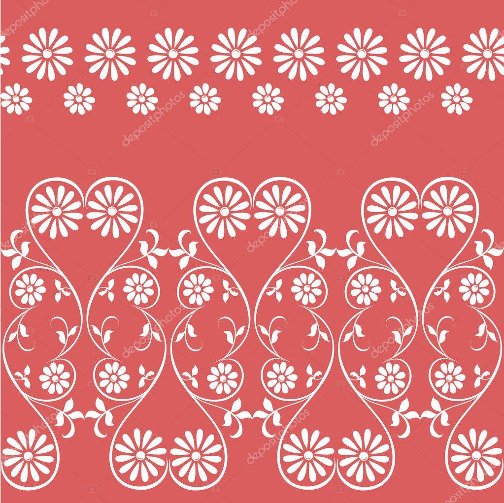 Wektor Mieszając Elementy Dekoracyjne Kwiatowy Ornament