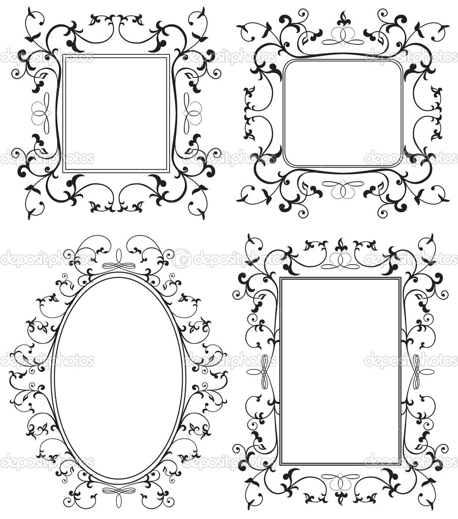 marco negro — Archivo Imágenes Vectoriales © losw #10504415