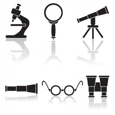 Set of black icons
