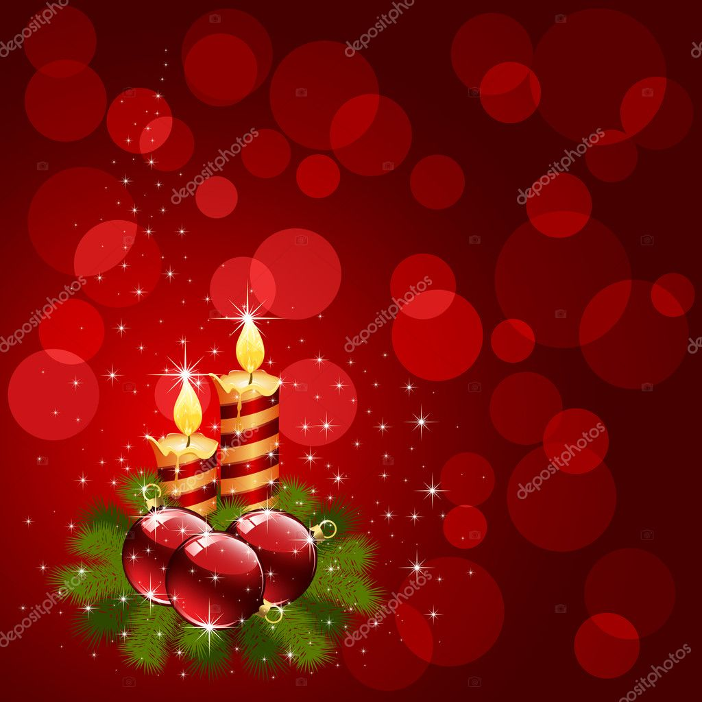 christmas candle on red background u2014 stock vector losw 10728866