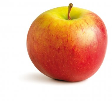 Juicy red apple on a white background with clipping path