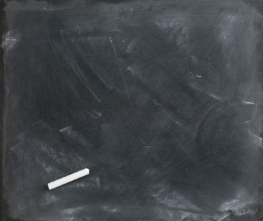 Used textured blank blackboard straight on ready for your copy a