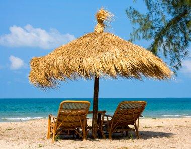 Beautiful tropical beach in Cambodia