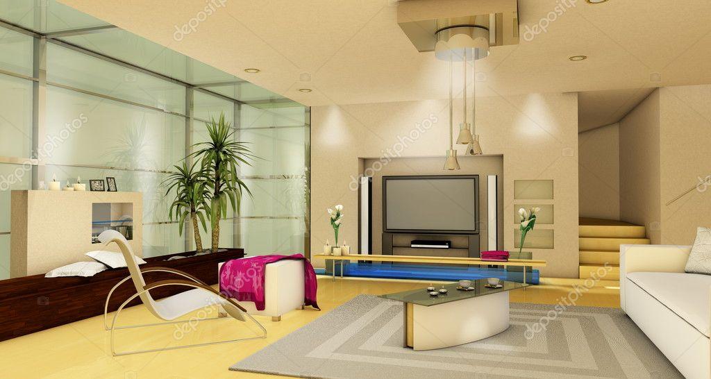 Arredamento soggiorno moderno di lusso foto stock for Arredamento moderno di lusso