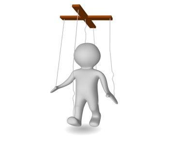 3d figure puppet or marionette