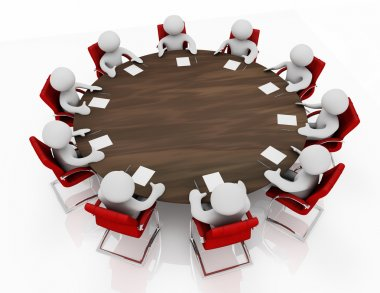 Business meeting at a round table