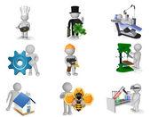 Kép beállítása a 3D-s személyek különböző szakmák