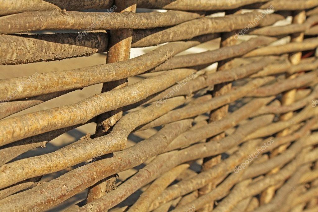 ein gewebter Zaun aus vielen Branchen — Stockfoto © evp82 #10487297