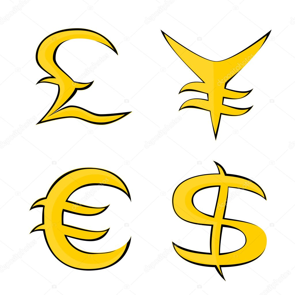 Smbolos para o euro dlar libra e iene vetores de stock smbolos para o euro dlar libra e iene vetores de stock biocorpaavc Gallery