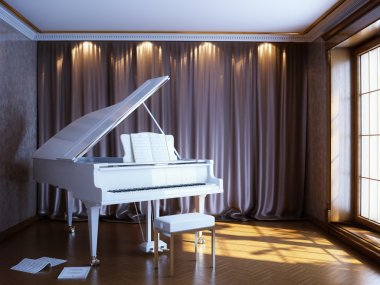 nice room to play the piano