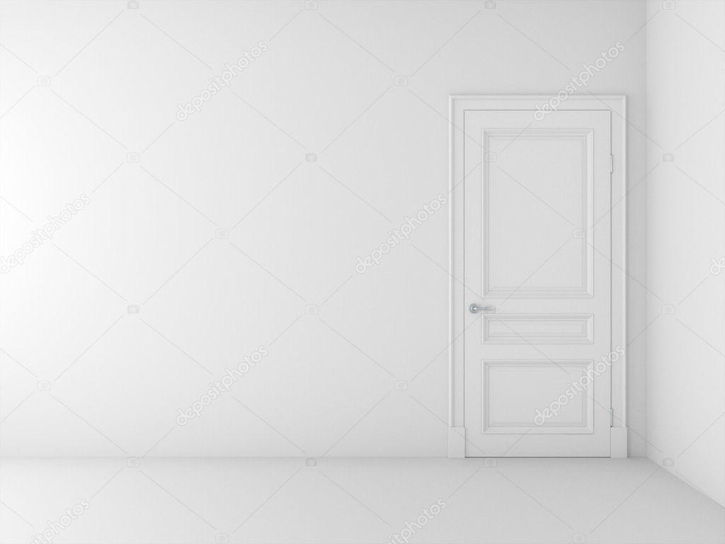 White door in white room Stock Photo vizarch 10465043