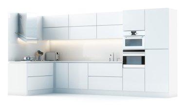 Kitchen in white studio