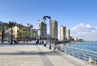 The Corniche along Beirut's seafront