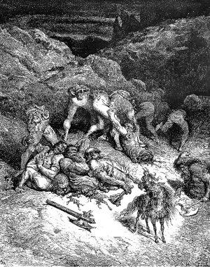 An exploit of Felixmarte of Hyrcania: chopping five giants