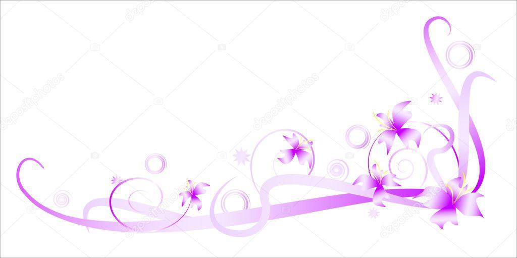 Angular floral vignette