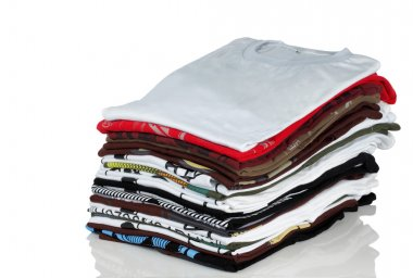 Stack of t-shirt and clothes