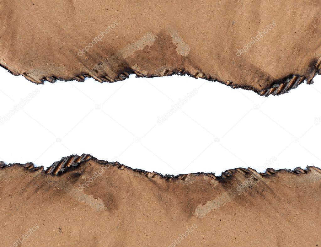 verbrannte Pappe Papier Rahmen — Stockfoto © odua #10495031
