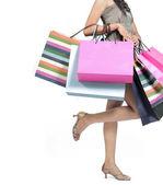 žena s nákupní tašky