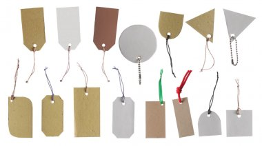 Hang tag, gift tag, sale tag, price tag and label