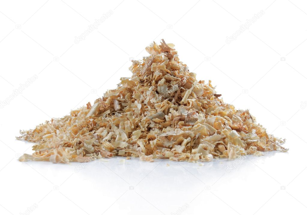 Pile of natural sawdust