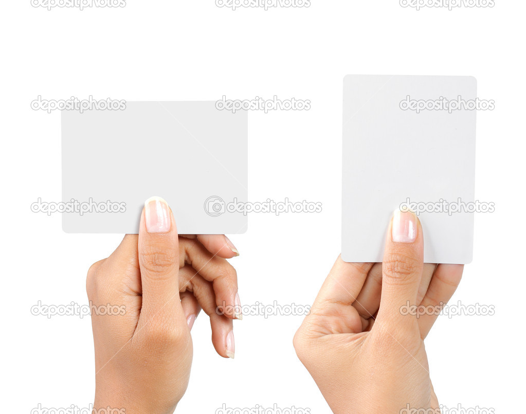Hand holding blank business card — Stock Photo © odua #10565940