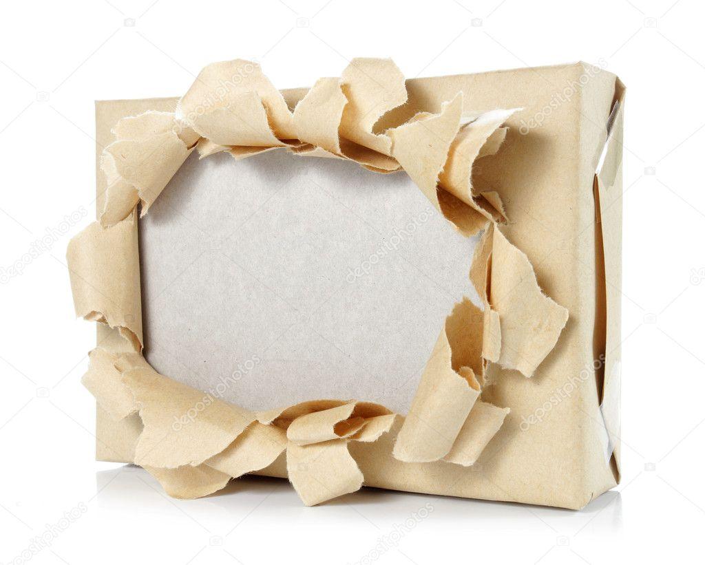 verbrannte Pappe Papier Rahmen — Stockfoto © odua #10567444