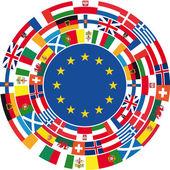 Egyesült Európa. Vektoros illusztráció