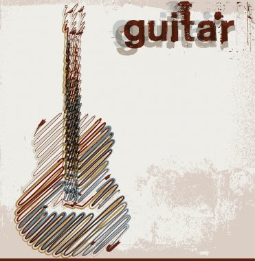 Abstract guitar. vector illustration