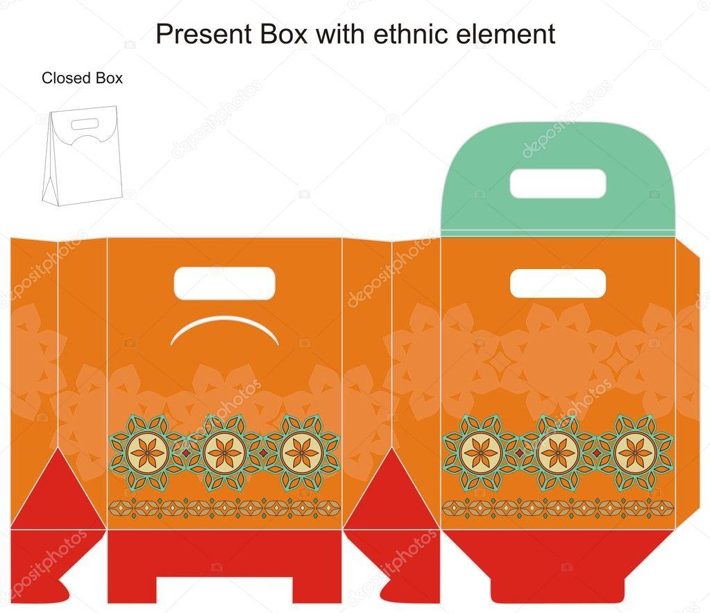 Vector design for gift box