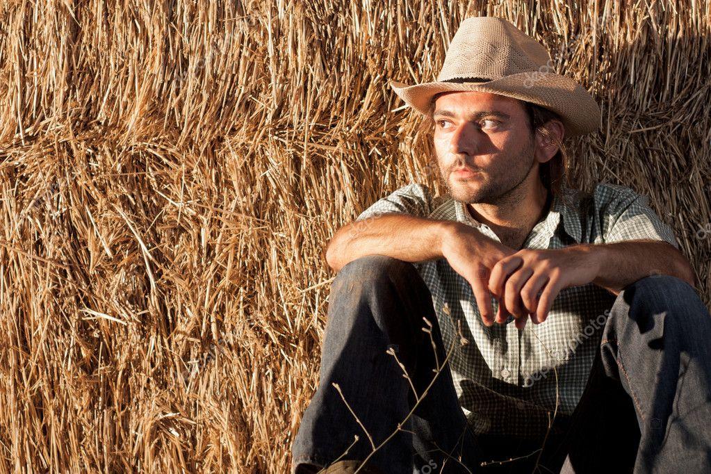seduta cowboy — Foto Stock © mrkornflakes  10429996 ad898096ae17